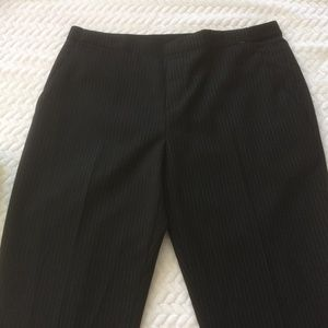 Uniqlo Pinstripe Black Trousers